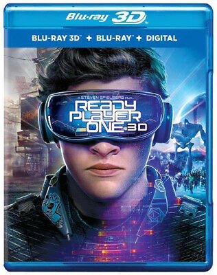 Ready Player One  Blu Ray 3D   Blu Ray   Digital  Tye Sheridan  Olivia Cooke New