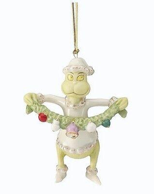 Dr Seuss Wreath (Lenox GRINCH Grabs the Garland Ornament Dr. Seuss NIB )