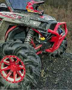 NO LIMIT - OCTANE RED POSITIVE WHEELS ATV TIRE RACK $157.52 ea.