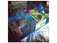 Sky Metro Hamster Cage Large Blue