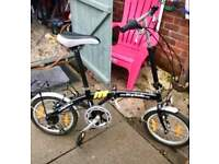 Folding bike! Fold down really well. Ideal for someone with minimal space.
