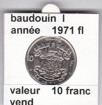 FB 2 )pieces de baudouin  10 francs 1971  belgie