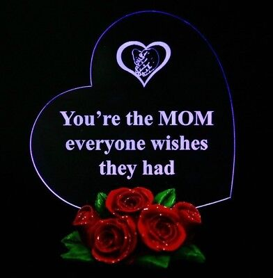 Christmas Gift For Mom Birthday Heart LED Light Xmas Souvenir Present Mother Day