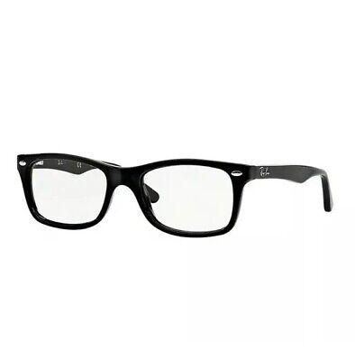 Ray Ban Eyeglasses Wayfarer RB5228 2000 Black 53mm RX Optical Frame (Ray Ban Wayfarer Eyeglasses)