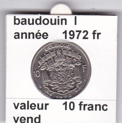 FB 2 )pieces de baudouin  10 francs 1972  belgique