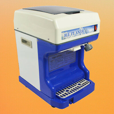 Ice Planer Fully Automatic Electric Ice Shaver Ice Crusher 110v250w Shaved Ice