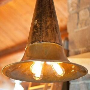 Antique phonograph horn hanging lights