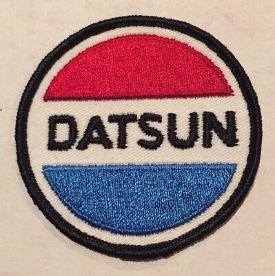 Vintage Datsun NOS Patch Nissan Skyline GTR Sports Race Car Hot Rat Rod 80s 70s