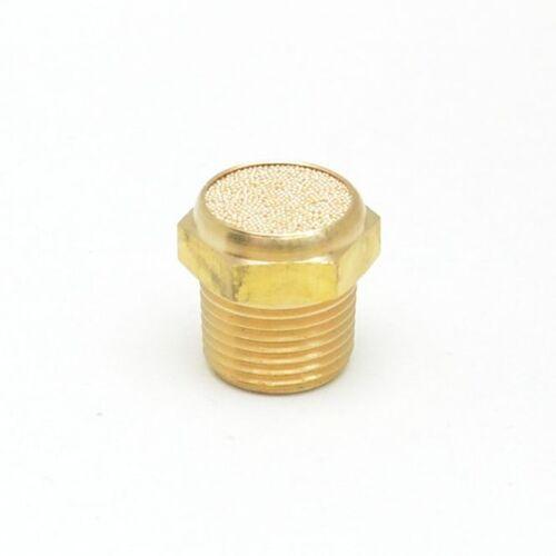 3/8 Breather Vent Flat NPT Male Bronze Silencer Muffler Solenoid Gearbox