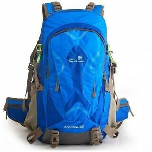 Blue 35L Brand-new School Hiking Backpack