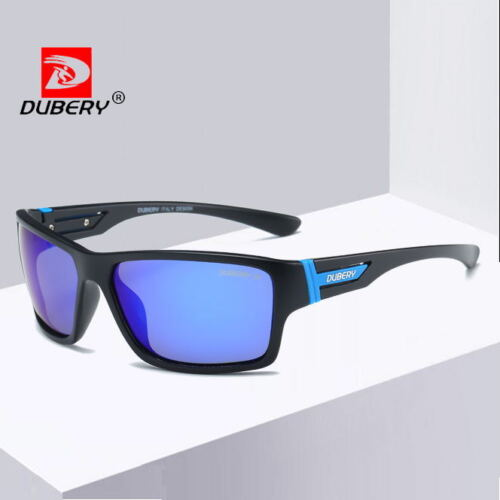 DUBERY Men/'s Polarized Sunglasses Outdoor Driving Riding Sport Coating Glasses