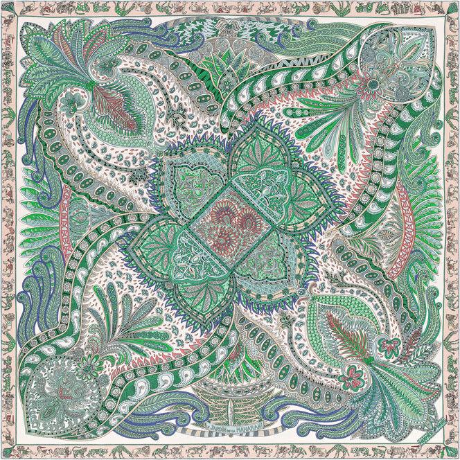 Silk Scarves Gumtree: Hermes Scarf Le Jardin De La Maharani Designed By Annie