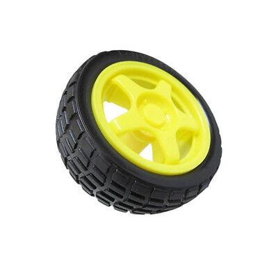 2 Pcs Arduino Small Smart Car Model Robot Plastic Tire Wheel 65x26mm