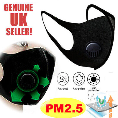 CYCLING ANTI POLLUTION FACE MASK ACTIVATED CARBON FILTER | UK Seller