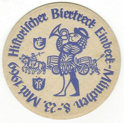 Bierdeckel Einbecker Sonderdruck Historischer Biertreck Einbeck-München« 1969