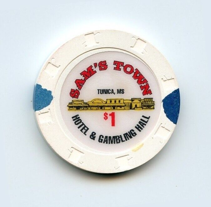 1.00 Chip from the Sams Town Casino Tunica Mississippi