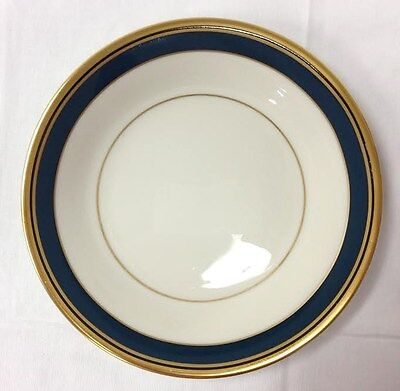 """PICKARD BISCAYNE BREAD PLATE 6 1/4"""" GREEN GOLD IVORY PORCELAIN MADE IN U.S.A."""
