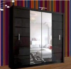 💥💯sale 50% OFF 2 AND 3 DOORS SLIDING WARDROBES WITH FULL MIRRORS, SHELVES, RAILS