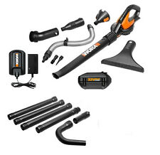 WG575.1 WORX 32V Lithium Cordless Blower, Attachments & FREE Gutter Cleaning Kit
