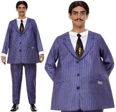 Herren Halloween Lizenziert Addams Family Gomez Kostüm Kostüm - Gomez Kostüme