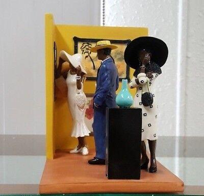 Annie Lee Figurine Scene From Gallery #2/African American Art Liquidation Sale!