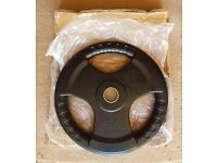 **BRAND NEW IN BOX** BLACK OLYMPIC RUBBERISED TRI GRIP WEIGHT PLATES **2.5kg-25kg**