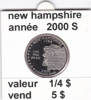 e2 )pieces de 1/4 $  new hampshire  2000  S