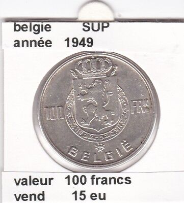 FB )pieces de 100 francs albert I 1949  belgie