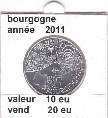 va )pieces de 10 eu bourgogne   2011  50%  argent