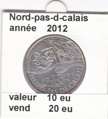 va )pieces de 10 eu nord-pas-de-calais  2012  33%  argent