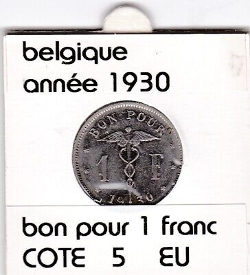 FB 3 )pieces de albert I   1 franc  1930 belgique