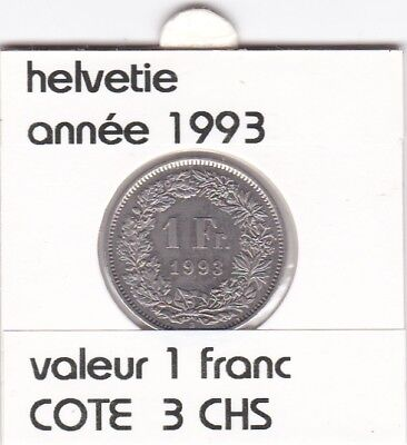 S 2 ) pieces suisse de 1 franc de 1993  voir description
