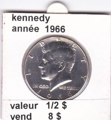 e2 )pieces de 1/2 dollar kennedy 1966