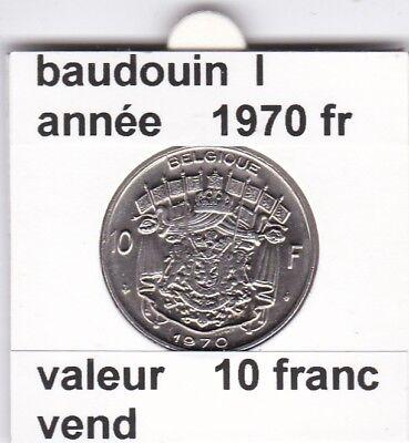 FB 2 )pieces de baudouin  10 francs 1970  belgique