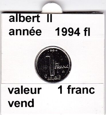 FB 2 )pieces de albert II  1 francs 1994   belgie