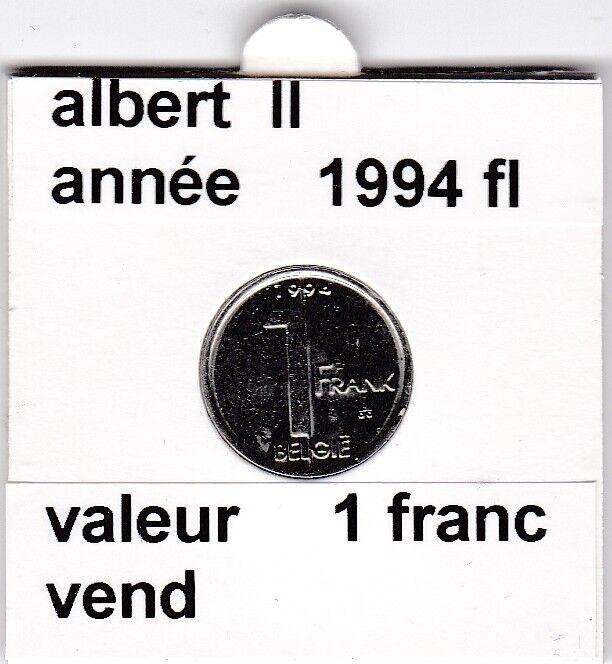 FB 2 )pieces de albert II  1 francs 1994   belgie