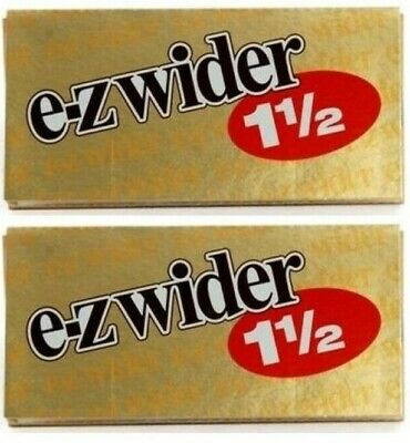 2 Packs E Z Wider Gold Rolling Papers 1 1/2 Best Price *USA (E Gold Usa)