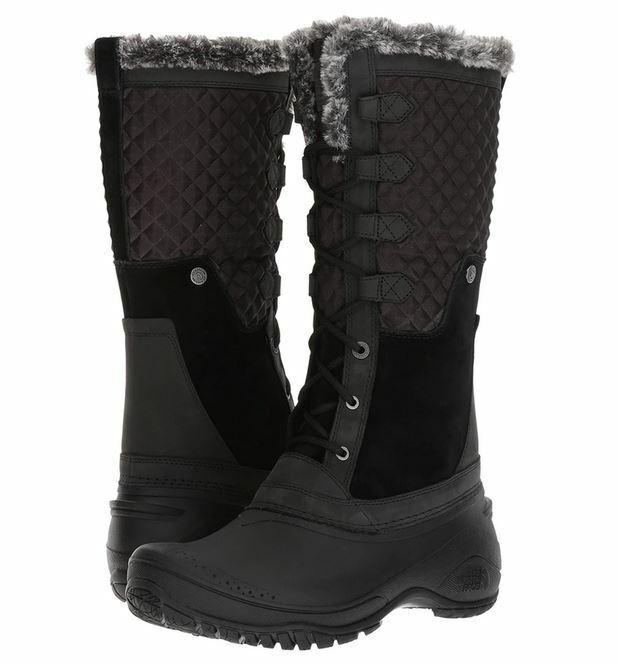The North Face Shellista III Tall Black Winter Snow Boot 7 8