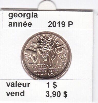 e1 )pieces de 1 dollar la dernier  georgie  2019 P --