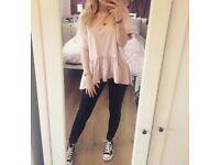 Boohoo pink top