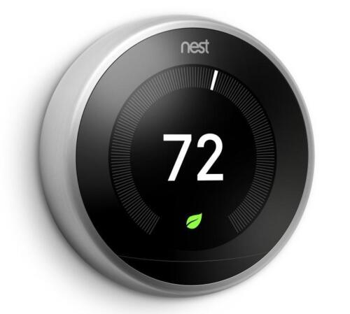 Nest Learning Thermostat 3rd Generation Stainless Steel T3007ES