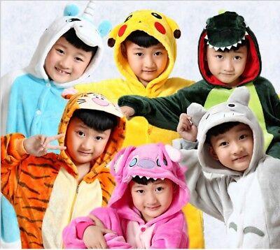 Halloween Kinder Onesiee Kigurumi Maskenkostüm Kapuzenpullis Schlafanzüge (Halloween Kostüme Anzüge)