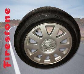 AUDI 16 INCH ALLOY WHEEL 10 SPOKE & FIRESTONE TYRE BRAND NEW 4A0601025P fits AUDI VW SKODA SEAT