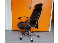 High Back Office Chair with Arms / Ergonomic Swivel Adjustable Black