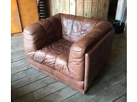 Vintage / Retro De Sede Style Mid Century Leather Armchair