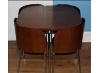 Ikea Compact Mahogany Dining Table and Chairs