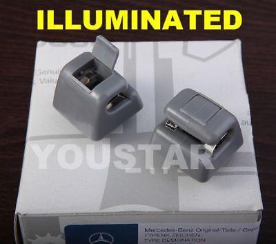 Us Stock 2X Grey Sun Visor Clips Mercedes W123 W124 W126 W201 190E 500E 560Sec