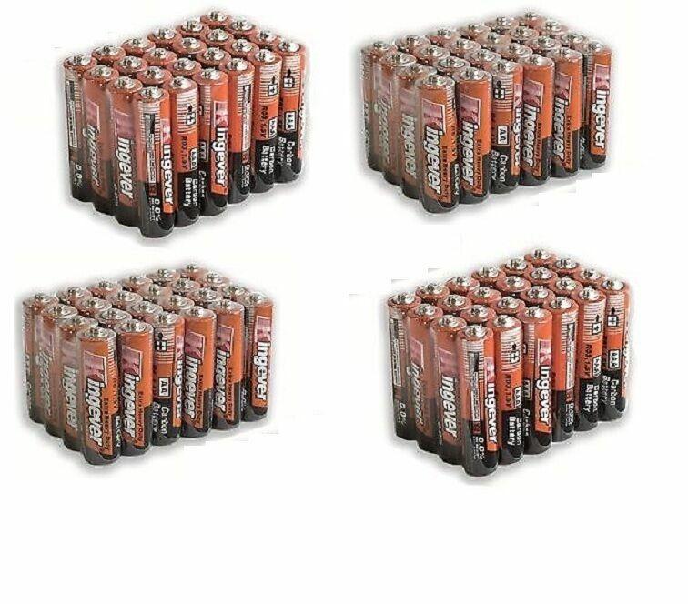 96 Pack 48 AA 48 AAA Batteries Medium Duty 1.5v Wholesale Lot New Fresh