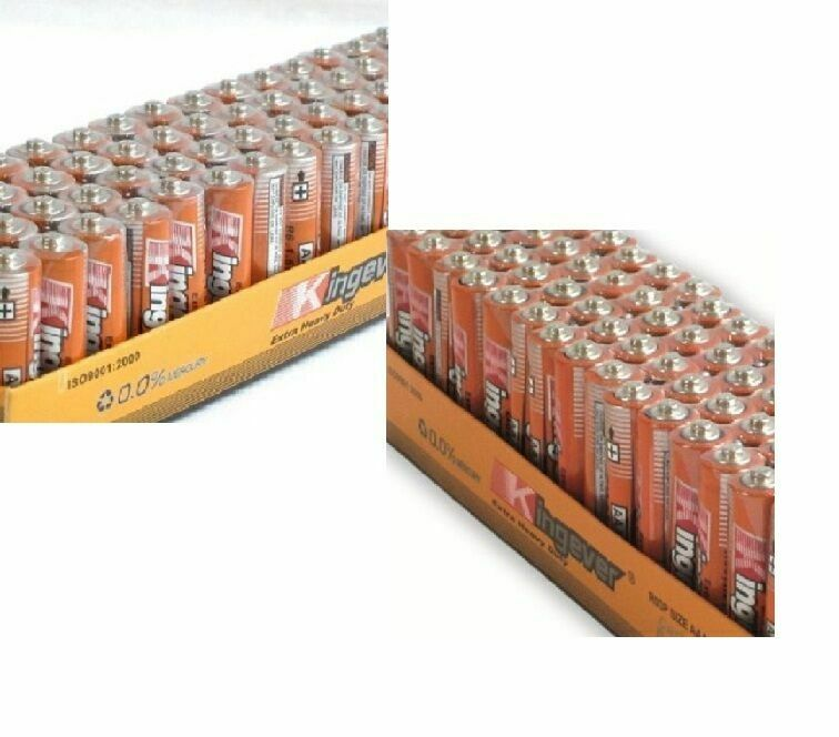 200 Pack 100 AA and 100 AAA Batteries Medium Duty 1.5v Wholesale Lot New