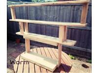 'WORM' Bookshelf - Reclaimed wood